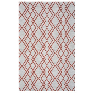 Arden Loft Hand-tufted Natural Geometric Easley Meadow Collection Wool Area Rug (8' x 10)