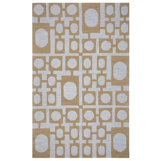 Arden Loft Hand-tufted Gold Nature Easley Meadow Collection Wool Area Rug (5' x 8')