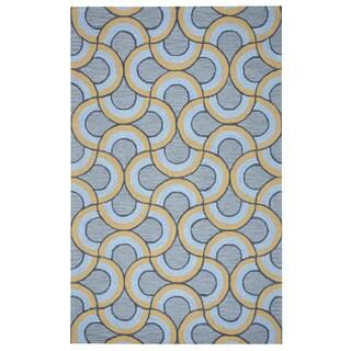 Arden Loft Hand-tufted Grey Geometric Easley Meadow Collection Wool Area Rug (10' x 14')