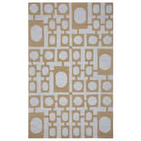 Arden Loft Hand-tufted Gold Nature Easley Meadow Collection Wool Area Rug - 10' x 14'