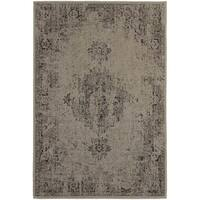 Silver Orchid Vinot Overdyed Antiqued Grey/ Charcoal Rug - 7'10 x 10'10