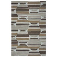 Arden Loft Hand-tufted Beige Geometric Easley Meadow Collection Wool Area Rug - 5' x 8'