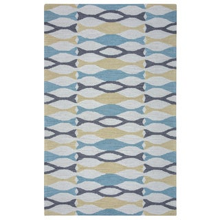 Arden Loft Hand-tufted Beige Ornamental Easley Meadow Collection Wool Area Rug (5' x 8') - 5' x 8'