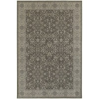 """Updated Persian Grey/ Ivory Rug (7'10 x 10'10) - 7'10"""" x 10'10"""""""