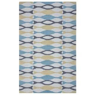 Arden Loft Hand-tufted Beige Ornamental Easley Meadow Collection Wool Area Rug (10' x 14')