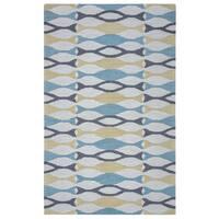 Arden Loft Hand-tufted Beige Ornamental Easley Meadow Collection Wool Area Rug - 10' x 14'