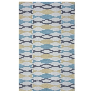 Arden Loft Hand-tufted Beige Geometric Easley Meadow Collection Wool Area Rug (2'6 x 8')