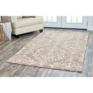 Arden Loft Hand-tufted Brown Geometric Falmouth Fields Collection Wool Area Rug (5 x 8)