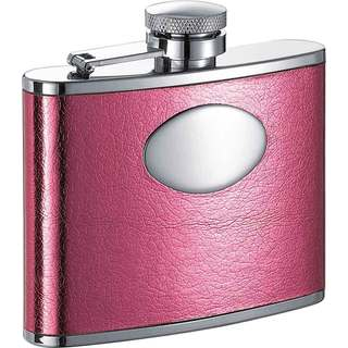 Visol Temptation Hot Pink Liquor Flask - 4 ounces