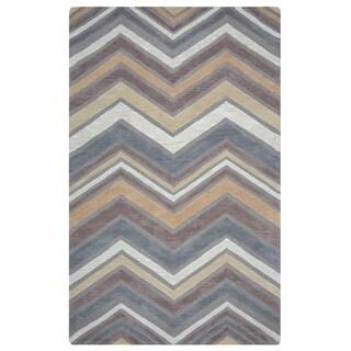 Arden Loft Hand-tufted Natural Ornamental Lisbon Corner Collection Wool Area Rug (10' x 14')