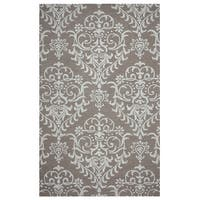 Arden Loft Hand-tufted Brown Geometric Falmouth Fields Collection Wool Area Rug - 10' x 14'