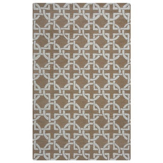 Arden Loft Hand-tufted Brown Geometric Falmouth Fields Collection Wool Area Rug (8' x 10')