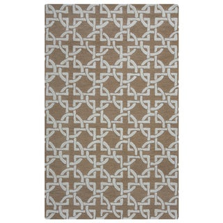 Arden Loft Hand-tufted Brown Geometric Falmouth Fields Collection Wool Area Rug (2'6 x 8')