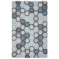 Arden Loft Hand-tufted Natural Geometric Lisbon Corner Collection Wool Area Rug (8' x 10')