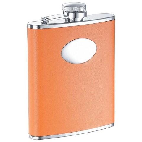 Visol Sunbeam Orange Leather Liquor Flask - 6 ounces
