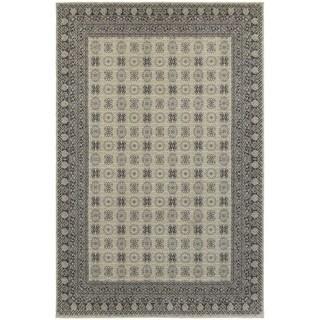 All-Over Medallion Ivory/ Grey Rug (7'10 x 10'10)