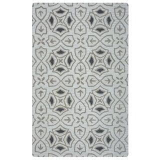 Arden Loft Hand-tufted Ivory Brick Lane Lisbon Corner Collection Wool Area Rug (10' x 14')