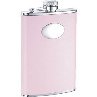 Visol Daydream Pink Leather Liquor Flask - 8 ounces (Option: Pink)