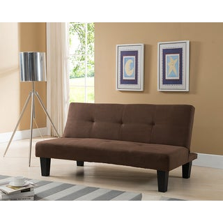 Brown Fabric Sleeper Sofa Futon