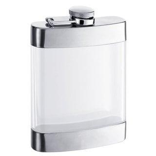 Visol Clear See Thru Satin Liquor Flask - 6 ounces