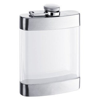 Visol Clear See Thru Satin Liquor Flask - 6 ounces