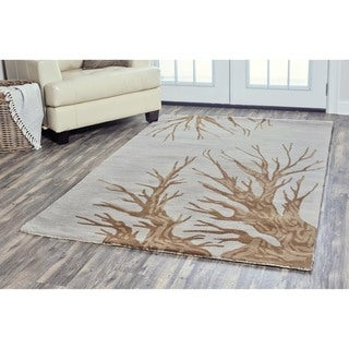 Arden Loft Hand-tufted Natural Tree Trunks Lewis Manor Collection Wool Area Rug (8' x 10') - 8' x 10'