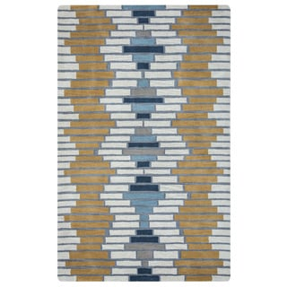 Arden Loft Hand-tufted Ivory Brick Lane Lewis Manor Collection Wool Area Rug (2'6 x 8')