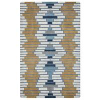 Arden Loft Hand-tufted Ivory Floral Lewis Manor Collection Wool Area Rug - 2'6 x 10'
