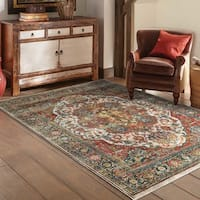 Laurel Creek Lester Persian Red/ Multi-colored Rug - 7'10 x 10'10