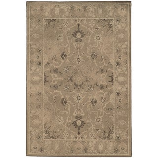 Weathered Traditional Tan/ Brown Rug (7'10 x 10'10)