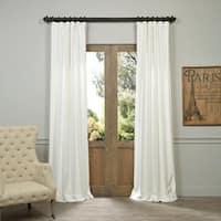 Exclusive Fabrics Vintage Cotton Velvet 84-inch Length Curtain Panel