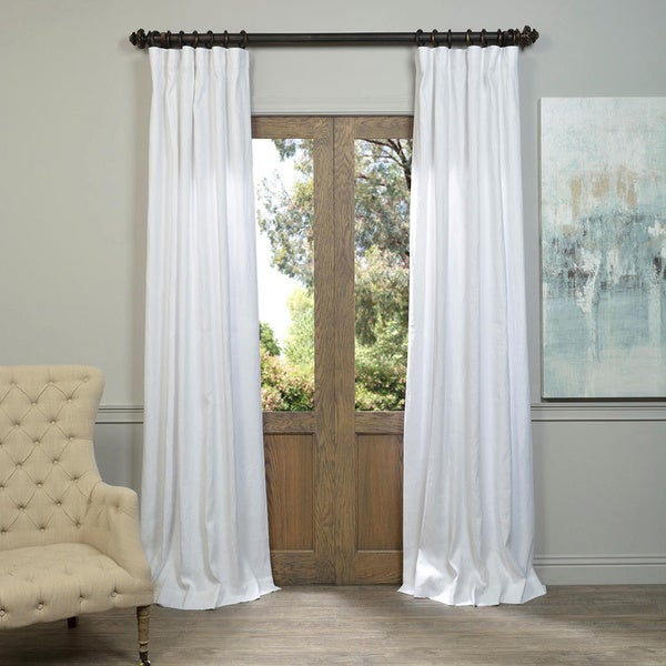 exclusive fabrics linen 108 inch curtain panel free shipping today 17661757. Black Bedroom Furniture Sets. Home Design Ideas