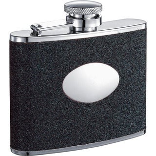 Visol Stardust Black Glitter Liquor Flask - 4 ounces
