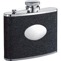 Visol Stardust Black Glitter Liquor Flask - 4 ounces