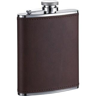 Visol Kenton Brown Leather Liquor Flask - 6 ounces