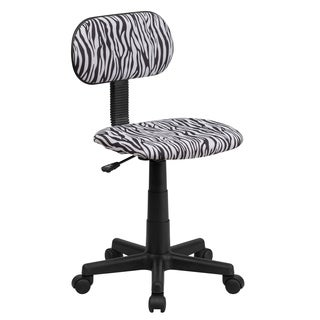 Zebra Print Fabric Task Chair