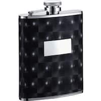 Visol Chase Black Checkered Pattern Liquor Flask - 6 ounces