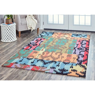 Arden Loft Hand-tufted Beige Chevron River Hill Collection Wool Area Rug (10' x 14')