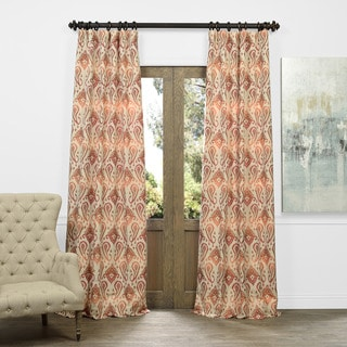 Exclusive Fabrics Kauai Coral Faux Silk Jacquard Curtain Panel