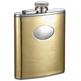 Visol Foxy Satin Gold Liquor Flask - 6 ounces