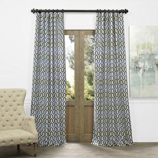Exclusive Fabrics Royal Summit Faux Silk Jacquard Curtain Panel