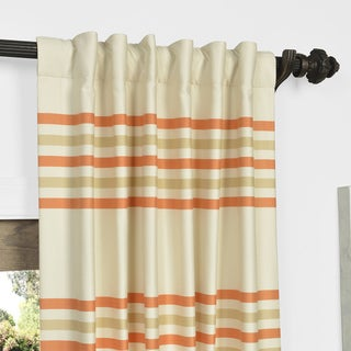 Exclusive Fabrics Horizontal Stripe Jacquard Curtain Panel