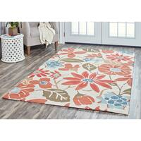 Arden Loft Hand-tufted Ivory Floral River Hill Collection Wool Area Rug (9' x 12')