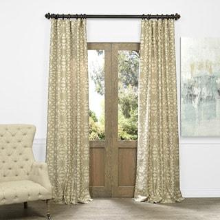 Exclusive Fabrics Lanaii Taupe Faux Silk Jacquard Curtain Panel