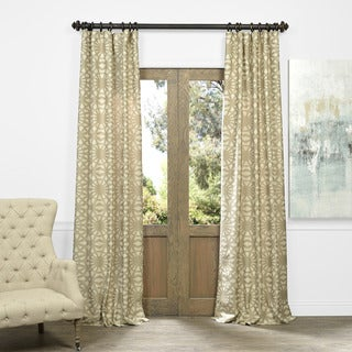 OVERSTOCK EXCLUSIVE Trace Faux Silk Jacquard Curtain