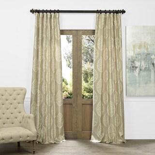 Exclusive Fabrics Oahu Taupe Faux Silk Jacquard Curtain Panel