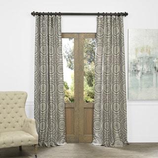 Exclusive Fabrics Radial Smoke Faux Silk Jacquard Curtain Panel