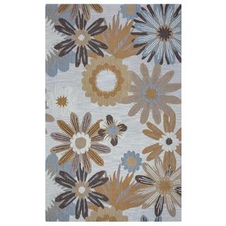 Arden Loft Hand-tufted Beige Floral River Hill Collection Wool Area Rug (2'6 x 8')