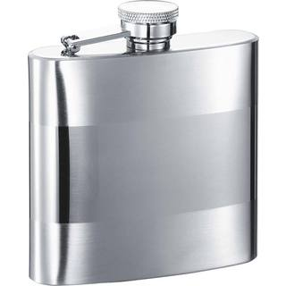 Visol Cabot Two Tone Stainless Steel Liquor Flask - 6 ounces