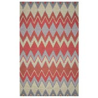 Arden Loft Hand-tufted Natural Chevron River Hill Collection Wool Area Rug (2'6 x 10')